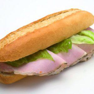 wit broodje ham
